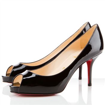 Christian Louboutin Mater Claude 80mm Peep Toe Pumps Black