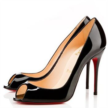 Christian Louboutin Sexy 100mm Peep Toe Pumps Black