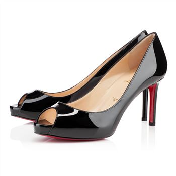 Christian Louboutin No Matter 80mm Peep Toe Pumps Black