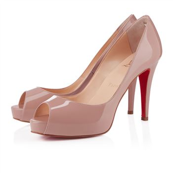 Christian Louboutin Mater Claude 80mm Peep Toe Pumps Nude