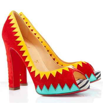 Christian Louboutin Tibu 120mm Peep Toe Pumps Red
