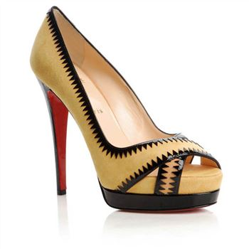 Christian Louboutin Very Jaws 140mm Peep Toe Pumps Yellow