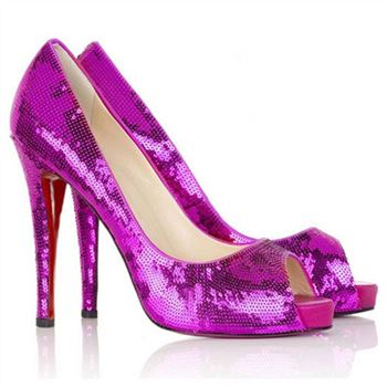 Christian Louboutin Very Prive 120mm Peep Toe Pumps Parme