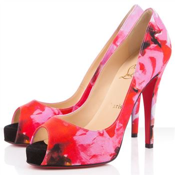 Christian Louboutin Very Prive 120mm Peep Toe Pumps Pink