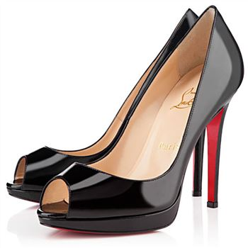 Christian Louboutin Yolanda Spikes 120mm Peep Toe Pumps Black