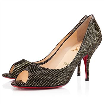 Christian Louboutin Yo Yo 80mm Peep Toe Pumps Black