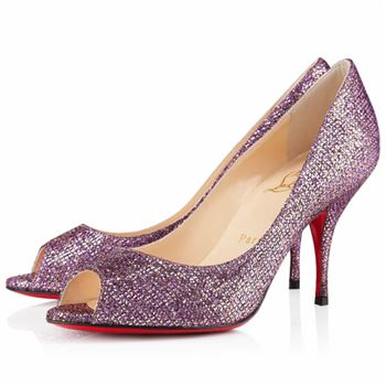Christian Louboutin Yo Yo 80mm Peep Toe Pumps Pivoine