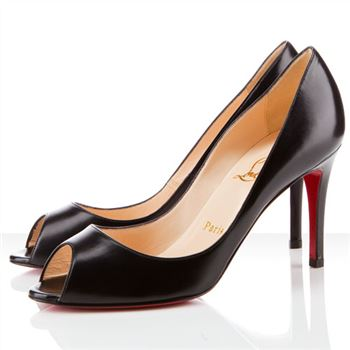 Christian Louboutin You You 80mm Peep Toe Pumps Black