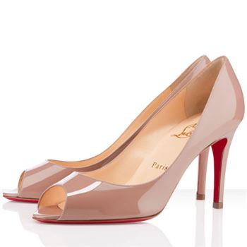 Christian Louboutin You You 80mm Peep Toe Pumps Nude