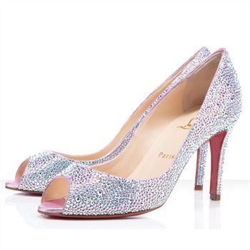 Christian Louboutin You You 80mm Peep Toe Pumps Aurora Boreale
