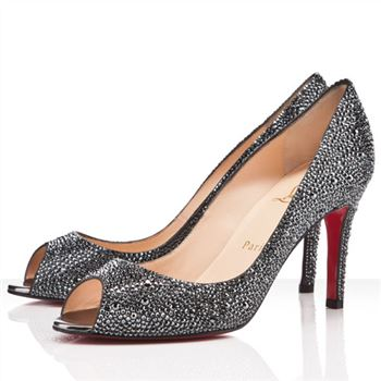 Christian Louboutin You You 80mm Peep Toe Pumps Hematite