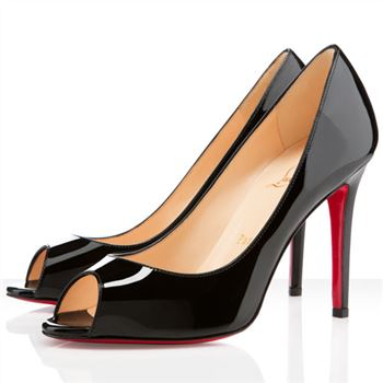 Christian Louboutin You You 100mm Peep Toe Pumps Black