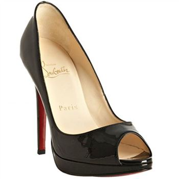Christian Louboutin Yolanda 120mm Peep Toe Pumps Black