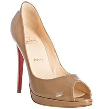 Christian Louboutin Yolanda 120mm Peep Toe Pumps Camel