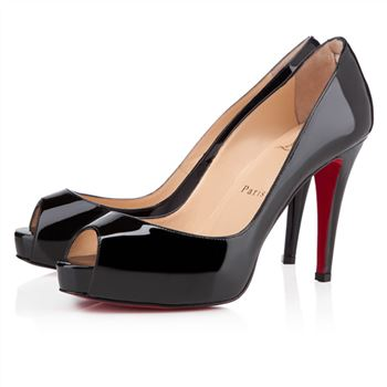 Christian Louboutin Very Prive 100mm Peep Toe Pumps Black