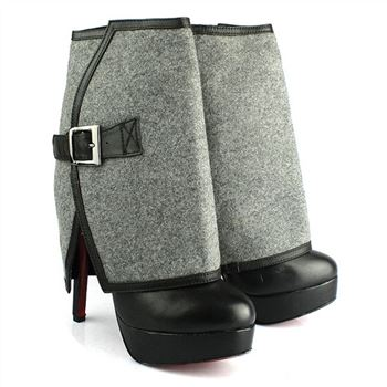 Christian Louboutin Armony 140mm Ankle Boots Grey