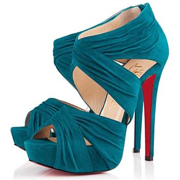 Christian Louboutin Bandra 140mm Ankle Boots Caraibes