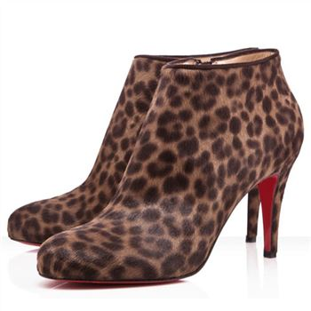 Christian Louboutin Belle 80mm Ankle Boots Leopard