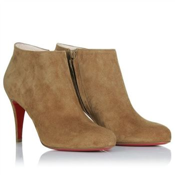 Christian Louboutin Belle 80mm Ankle Boots Brown