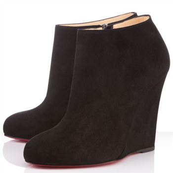 Christian Louboutin Belle Zeppa 100mm Ankle Boots Black