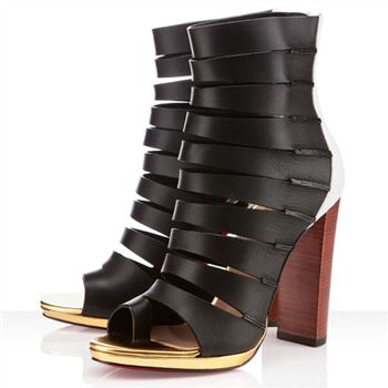 Christian Louboutin Decoupata 120mm Ankle Boots Black