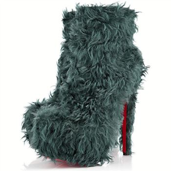 Christian Louboutin Daf Booty 160mm Ankle Boots Turquoise