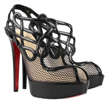 Christian Louboutin Brandaplato 140mm Ankle Boots Black