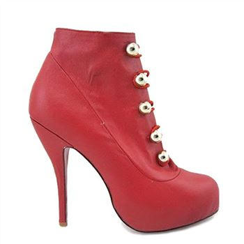 Christian Louboutin Fifre Corset 120mm Ankle Boots Red
