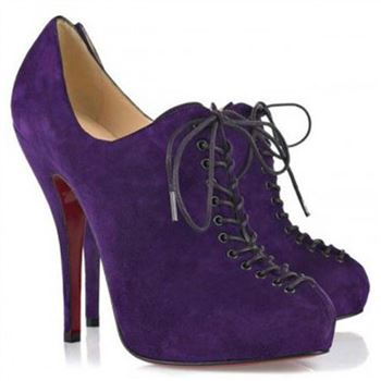 Christian Louboutin Trous 120mm Ankle Boots Parme