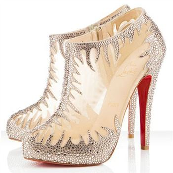Christian Louboutin Marale 140mm Ankle Boots Nude