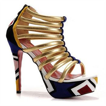 Christian Louboutin Romaine 140mm Ankle Boots Multicolor