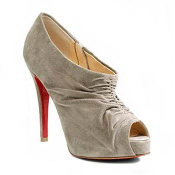 Christian Louboutin Treopli 120mm Ankle Boots Grey
