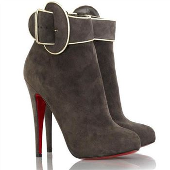 Christian Louboutin Trottinette 140mm Ankle Boots Brown