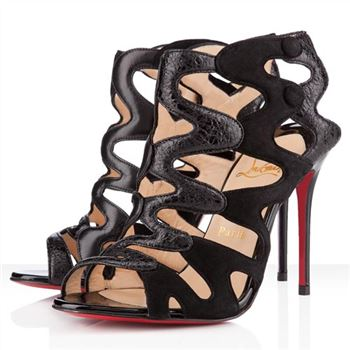 Christian Louboutin Valonana 100mm Ankle Boots Black