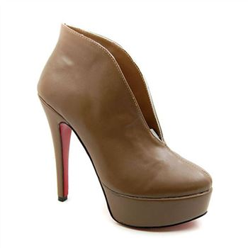 Christian Louboutin Miss Fast Plato 120mm Ankle Boots Brown