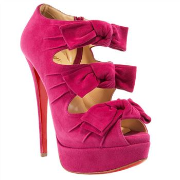 Christian Louboutin Madame Butterfly 140mm Ankle Boots Pink