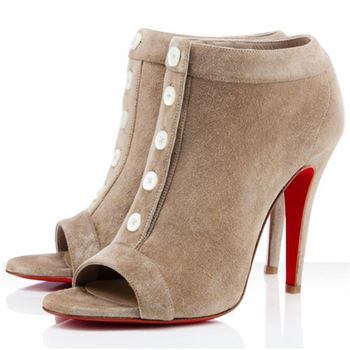 Christian Louboutin Maotic 120mm Ankle Boots Camel
