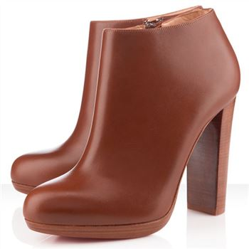 Christian Louboutin Rock And Gold 120mm Ankle Boots Brown
