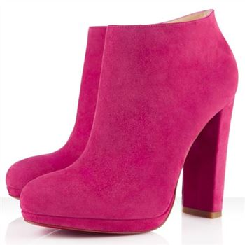 Christian Louboutin Rock And Gold 120mm Ankle Boots Pink