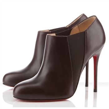 Christian Louboutin Lastoto 100mm Ankle Boots Chocolate
