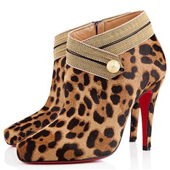 Christian Louboutin Marychal 100mm Ankle Boots Black