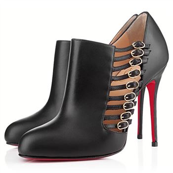 Christian Louboutin Safety 100mm Ankle Boots Black