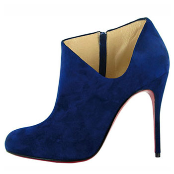 Christian Louboutin Lisse 100mm Ankle Boots Blue