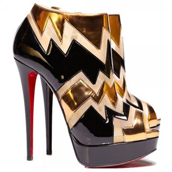 Christian Louboutin Ziggy 140mm Ankle Boots Black
