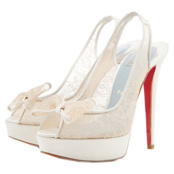 Christian Louboutin Exclu 140mm Slingbacks White