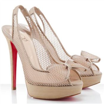 Christian Louboutin Exclu 140mm Slingbacks Beige