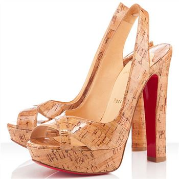 Christian Louboutin Marple Town 140mm Slingbacks Natural