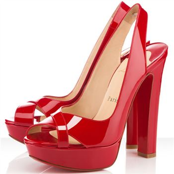 Christian Louboutin Marple Town 140mm Slingbacks Red
