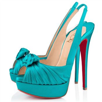 Christian Louboutin Jenny 140mm Slingbacks Peacock