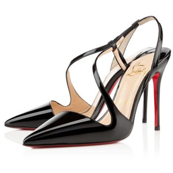 Christian Louboutin June 100mm Slingbacks Black